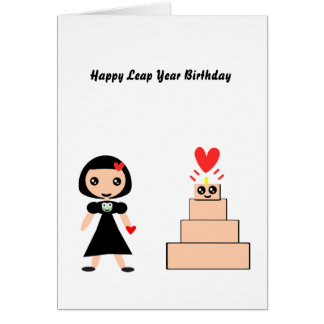 Happy Birthday Leap Year Greeting Card