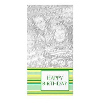 happy birthday (lemonLime) Custom Photo Card