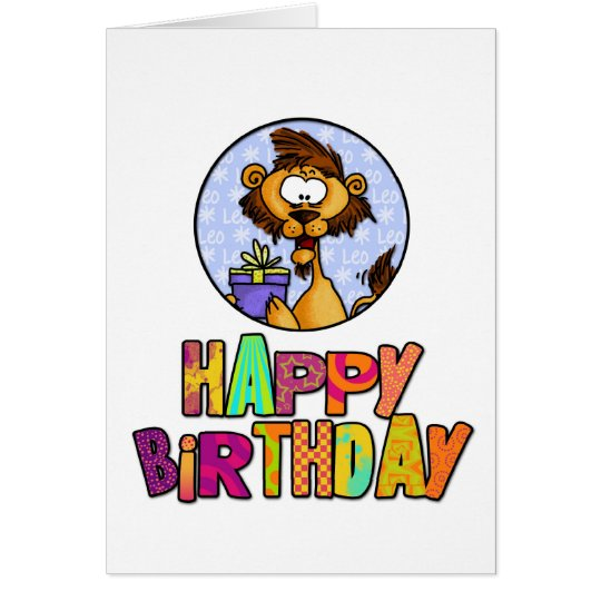 Happy Birthday - Leo Card
