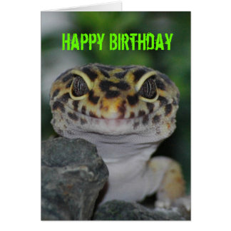 Happy Birthday Leopard Gecko Card