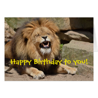 Happy Birthday Lion Card