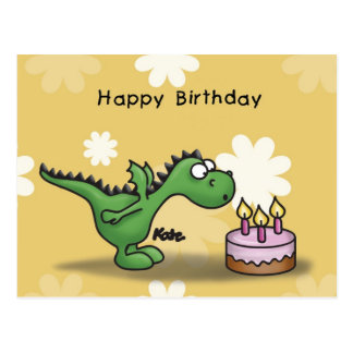 Happy Birthday - Little Dragon Postcard