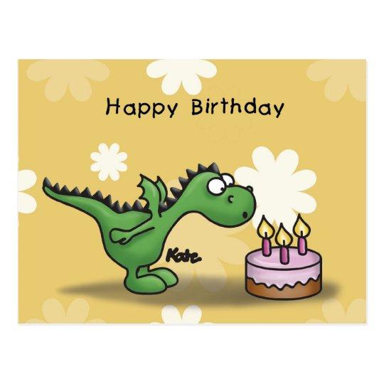 Happy Birthday - Little Dragon Postcard