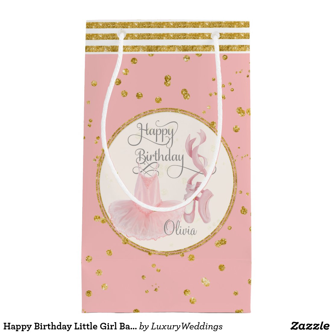 Happy Birthday Little Girl Gift Bag