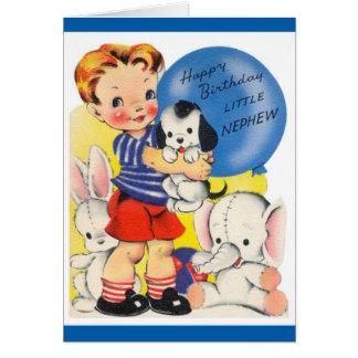 Happy Birthday - Little Nephew Greeting Card