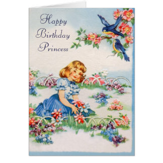 Happy Birthday - Little Princess Greeting Card