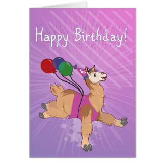 Happy Birthday Llama! Card