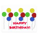 Happy Birthday lollipops Post Cards