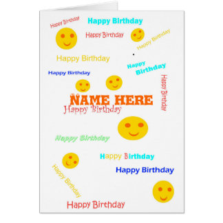 Happy Birthday, lots of times, add name front Greeting Card