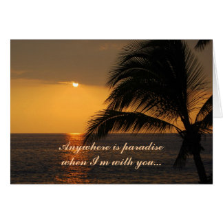 Happy Birthday Love Tropical Sunset Sunset Card