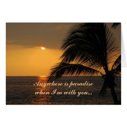 Happy Birthday Love Tropical Sunset Sunset Card