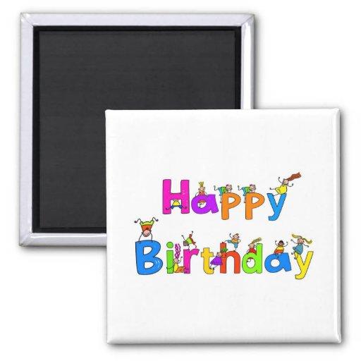 Happy Birthday Magnets