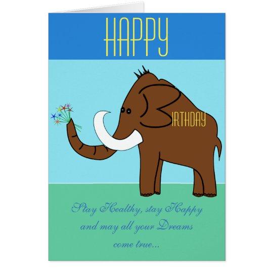 Happy Birthday mammoth card