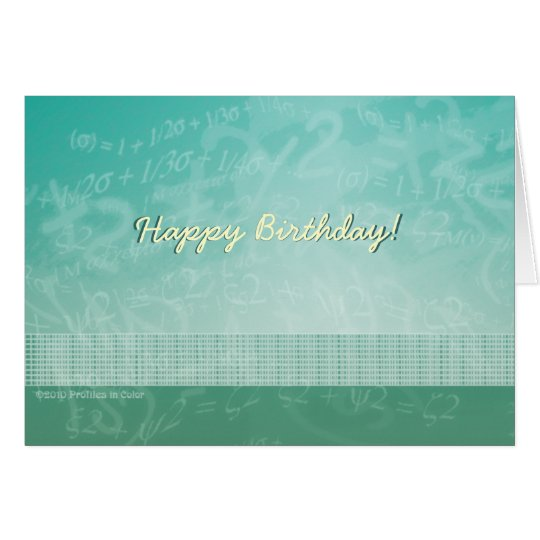 Happy Birthday Math Equations Card