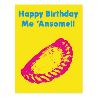 Happy Birthday me Ansome Postcard