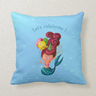 Happy Birthday Mermaid Cushion