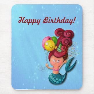 Happy Birthday Mermaid Mouse Mat