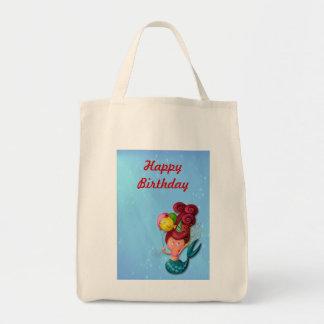 Happy Birthday Mermaid Tote Bag