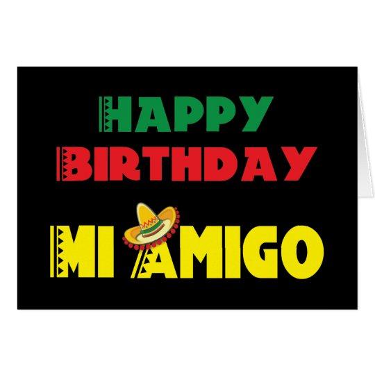 Happy Birthday Mi Amigo Card