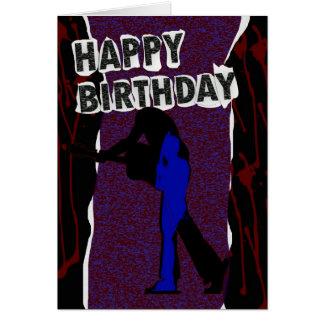 Happy Birthday Modern card Retro Punk