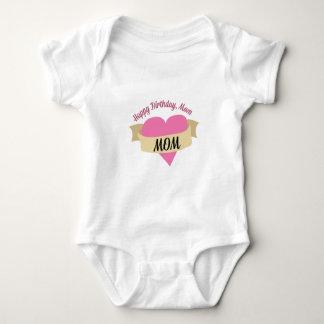 Happy Birthday Mom Baby Bodysuit
