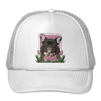 Happy Birthday Mom - French Bulldog - Teal Hats