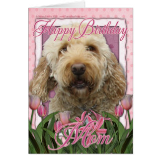 Happy Birthday Mom - Goldendoodle Card