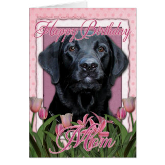 Happy Birthday Mom - Labrador - Black - Gage Greeting Cards