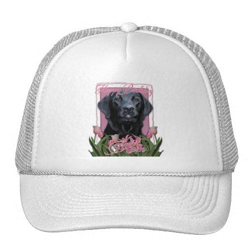 Happy Birthday Mom - Labrador - Black - Gage Trucker Hat
