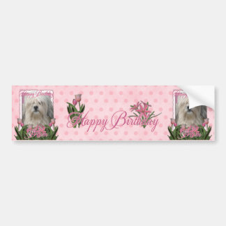 Happy Birthday Mom - Lowchen Bumper Sticker