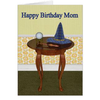 Happy Birthday Mom Pagan Greeting Card