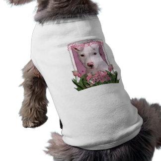 Happy Birthday Mom - Pitbull Puppy - Petey Sleeveless Dog Shirt