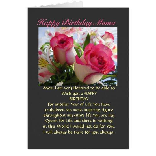 Happy Birthday Moma Card