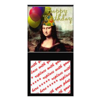 Happy Birthday Mona Lisa Personalised Photo Card