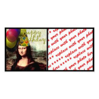 Happy Birthday Mona Lisa Picture Card