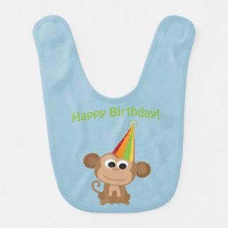 Happy Birthday Monkey Bib