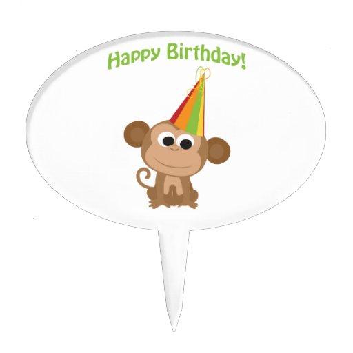 Happy Birthday! Monkey Cake Topper