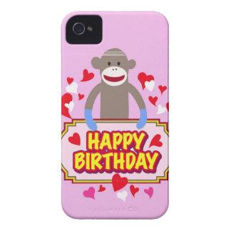 Happy Birthday Monkey iPhone 4 Covers