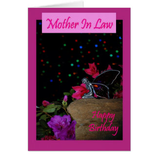 Happy birthday Mother In Law fairy faerie magical Greeting Card