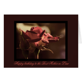 Happy Birthday mother in law Greeting Card
