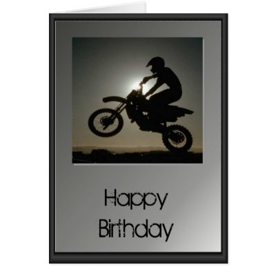 Motocross Birthday Card – Motocross Birthday Cards