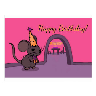 Happy Birthday - Mouse Postcard