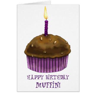 Happy Birthday Muffin Greeting Card