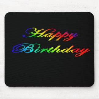 Happy Birthday Multicolor Birthday Mousepads