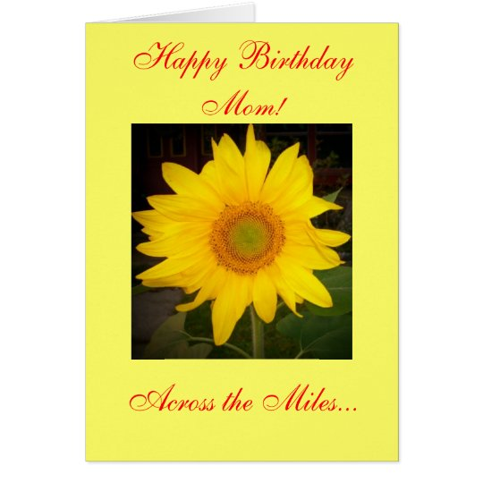 Happy Birthday Mum! Across the Miles Card