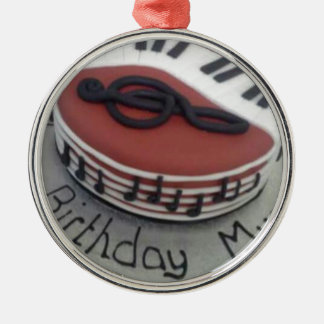Happy birthday mum cake christmas ornament
