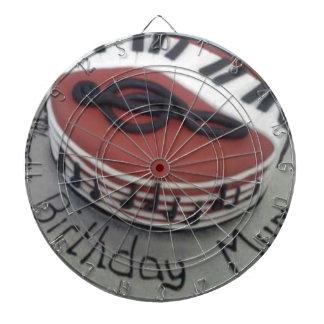 Happy birthday mum cake dartboard with darts