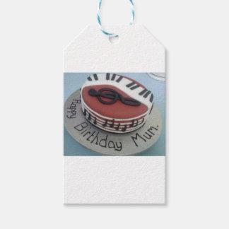 Happy birthday mum cake gift tags