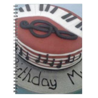 Happy birthday mum cake notebook