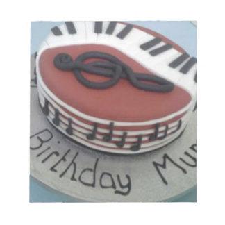 Happy birthday mum cake notepad